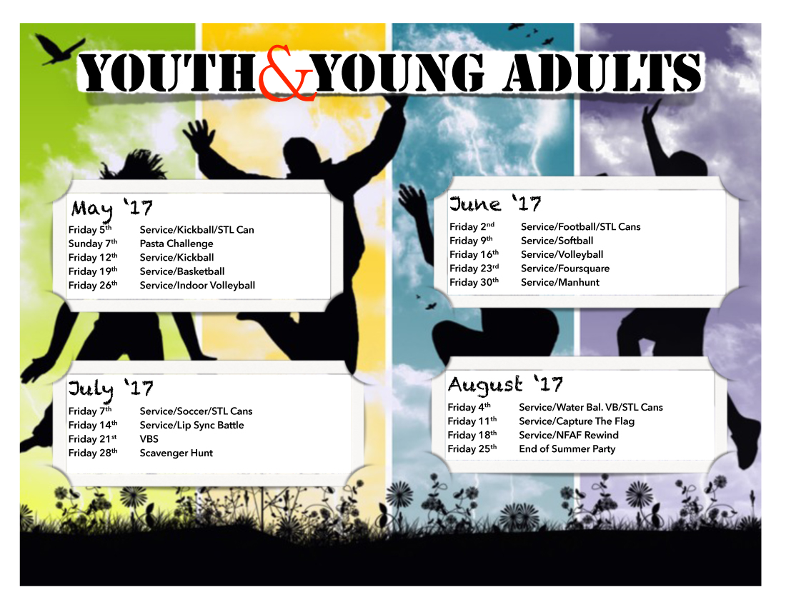 Youth & Young Adults Calendar
